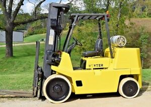 Hyster Forklift S135xl 13 500 Pound Lift Capacity Runs Great Propane Side shift