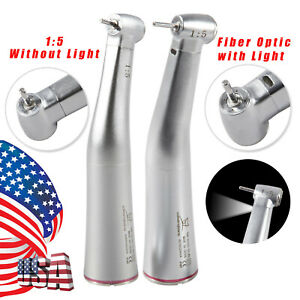 Dental 1 5 Electric Fiber Optic Non Led Contra Angle Handpiece Red Ring Ybb1 5