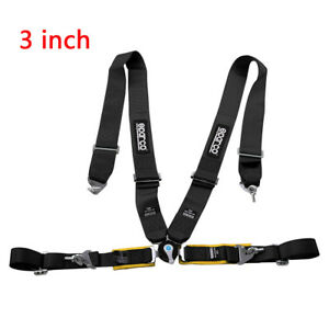 Universal Car Vehicle 3 Inch 4 Point Racing Sport Safety Harness Seat Belt New