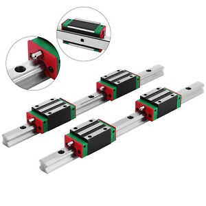 2x 15 300mm Linear Guideway Rail 4x Square Block Hgh 15ca Unique High Rigidity