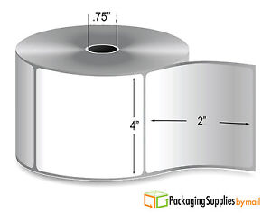 4 X 2 Direct Thermal Label Mobile Roll Perforated 0 75 Core 300 rl 252 Rolls