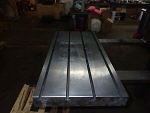 39 5 X 19 75 X 3 25 Steel Weld T slot Table Cast Iron Layout 4 Slot Jig