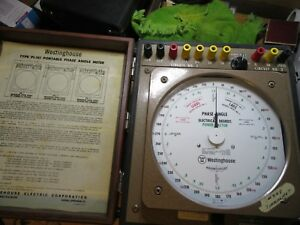 Westinghouse Pi 161 Portable Phase Angle Meter Tester Case