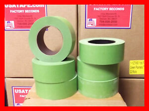 24 Rolls 2 x 60 Green Painters Masking Tape Quick Ship Usa Made Blems