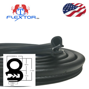 17ft Rubber Car Door Seal Weatherstrip Body Mounted Front Left Or Right
