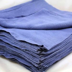 75 Premium Blue Huck Towels Glass Cleaning Janitorial Lintless Surgical Detail