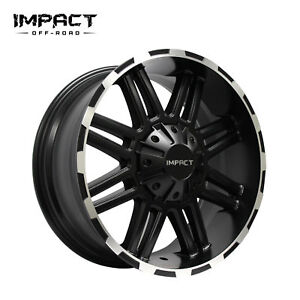 Impact 4 Pc Off Road Wheels 18x9 5x139 7mm 5x135mm 18mm Black Machine Edge
