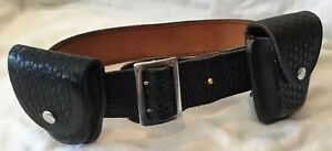 Dutyman 1021 Full Grain Leather Basketweave Belt With Accessories Fits 32