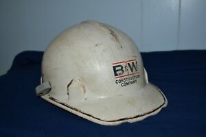 Hard Hat Vintage Fiberglass Jackson B w Construction Worker Costume Work Play
