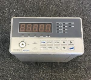 Keyence Vg 301 Ccd Laser Micrometer Amplifier Unit Voltage 24vdc
