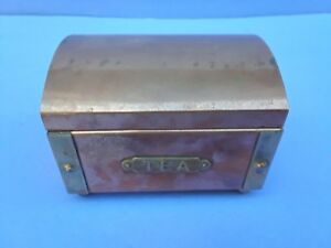 Antique Copper And Brass Tea Bags Container Box