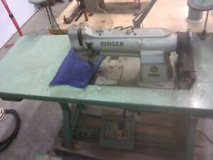 Singer 212g140 2 Needle Feed 1 4 Gap Industrial Sewing Machine Single Phase