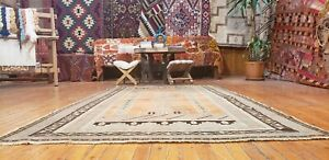 Fine Antique Cr1900 1939 S Muted Natural Dye 4 3 X7 1 Wool Pile Prayer Rug