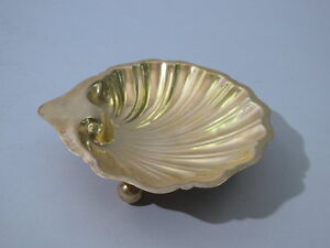 George V Bowl Scallop Shell English Silver Gilt 1919