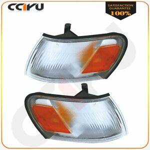 18 1921 00 18 1920 00 Pair Park signal Lamps For 1993 1997 Toyota Corolla