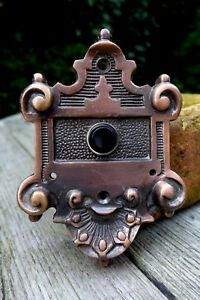Old Brass Copper Effect Decorative Push Bell Plate Project Replacement