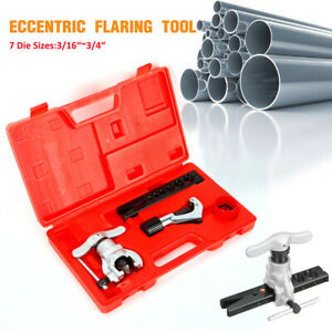 New Tubing 7 Dies Sizes 45 Angle Eccentric Cone Type Flaring Tool Kit For Car
