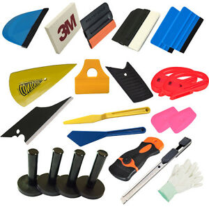 Car Wrapping Installation Tools Kit Vinyl Wrap Squeegee Razor Glove Magnet Tools