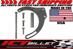 Bbc Billet Alternator Bracket Adjustable Lwp Low Mount Big Block Chevy Long Kit