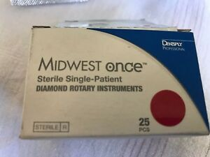 25 Psc Midwest Diamond Dental Bur 862 012sf Super Fine Flame Shaped Finishing