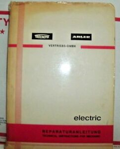 Triumph Adler Electric Typewriter Manual Technical Instructions German Language