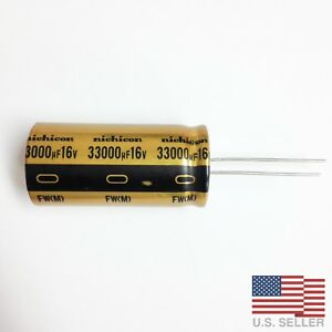 Nichicon Ufw Fw 33000uf 16v Electrolytic Capacitors Lots Of 1 To 4