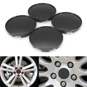4pack 68mm Car Trucks Black Wheel Hubs Center Universal Wheel Rim Hub Cover Caps
