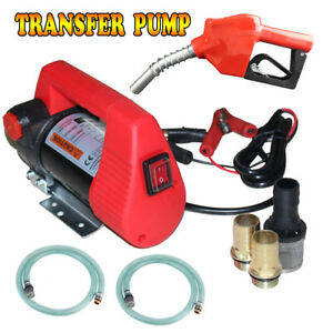 Electric Oil Transfer Pump Diesel 12v 10gpm Dc Fuel Kerosene Extractor pump Gun
