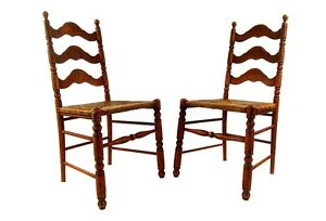 Antique Ladder Back Dining Chairs 1800 S