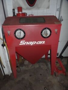 Snap On Bead Blast Blasting Abrasive Cabinet Front Side Opening