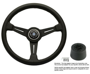Nardi Steering Wheel 390mm Black Leather W Hub For Jaguar All Models 1968 1975