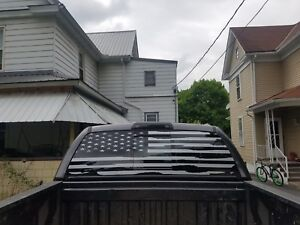 2014 2019 Chevrolet Silverado Gmc Rear Window Distressed Flag Decals Pick Color