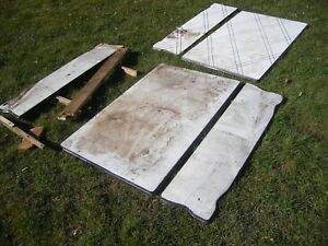 Vintage Antique Steel Ceramic Table Tops And Parts
