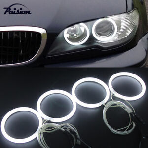 4pcs Ccfl Angel Eyes Warm White Halo Rings For Bmw E46 2door Coupe 320 325 330i