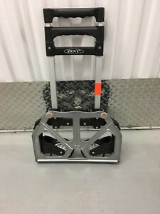 Portable Folding Collapsible Aluminum Cart Dolly Push Box Trolley Car Truck Suv