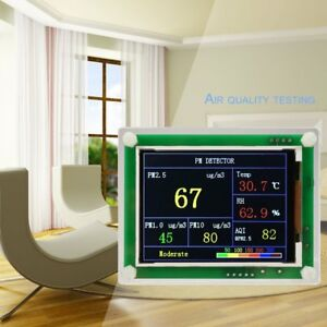 Lcd Digital Car Pm2 5 Detector Air Quality Aqi Monitor Home Gas Thermomete Zs