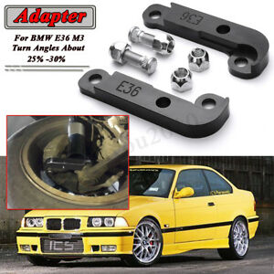 Black For Bmw E36 M3 Adapter Increasing Turn Angles About 25 30 Drift Lock Kit