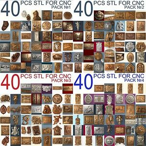 3d Stl Model Relief 160 Pcs Pack For Cnc Router Artcam