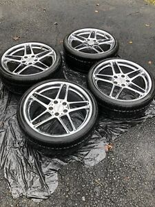 19 Ac Schnitzer Type Iii Wheels 5x120 Toyo Tires Rare Ronal Original Owner Bmw