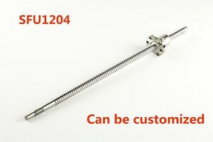 Sfu1204 250 1500mm Rolled Ball Screw With Ballnut For Bk bf10 End Machined Cnc