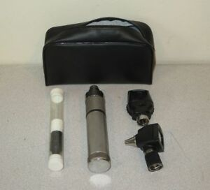 Welch Allyn 3 5v Otoscope Ophthalmoscope Diagnostic Kit 11710 20000