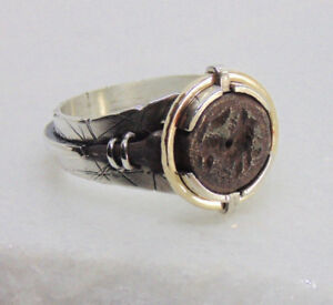Authentic Ancient Roman Intaglio Bronze Men S Ring Set In Silver