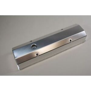 Prw 4035000 Aluminum Tall Valve Cover Satin Silver For Small Block Chevy