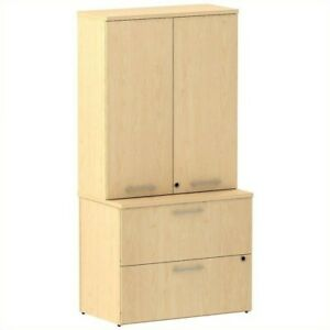 Scranton Co Lateral File With Storage In Natural Maple