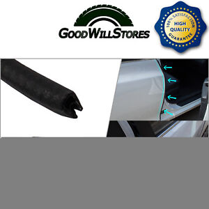 Black Rubber Seal Weatherstrip Auto Accessory Door Edge Protect Edge Trim 32feet