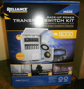 Reliance Back up Power 6 circuit Transfer Switch Kit 306lrk New