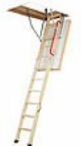 Fakro Lwt 66893 Wooden Thermo Attic Ladder With 12 5 R value For 22 inch X Rough