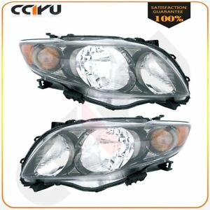 20 6994 90 20 6993 90 Pair Headlight Assembly For 09 10 Toyota Corolla S xrs Hl