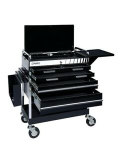 Professional 5 drawer Service Cart With Locking Top Black Suu 8045bk Brand New