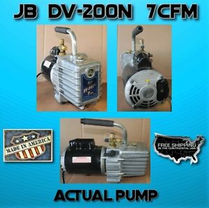 Vacuum Pump Jb Dv 200n 2 Stages 7cfm free Shipping Free Oil